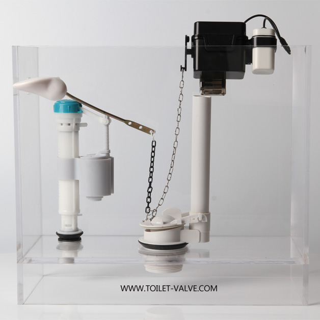 White Touchless Flush Toilet Retrofit Kit