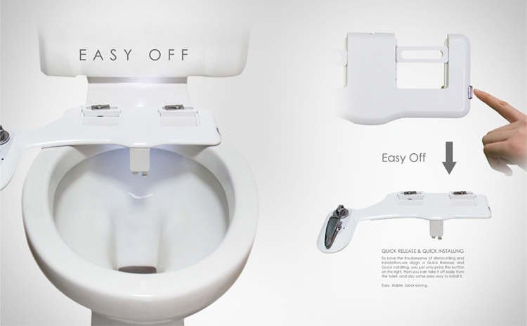 Bidet Toilet Attachment with Cold&hot Water&double Nozzle