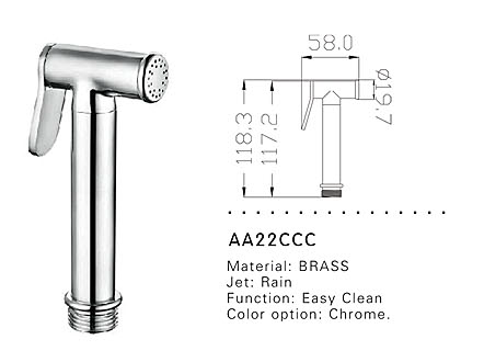 bidet shower head AA22CCC